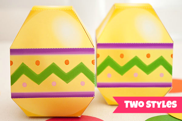 Easter egg favor box diy printable pdf piggy bank parties for Design your own egg boxes
