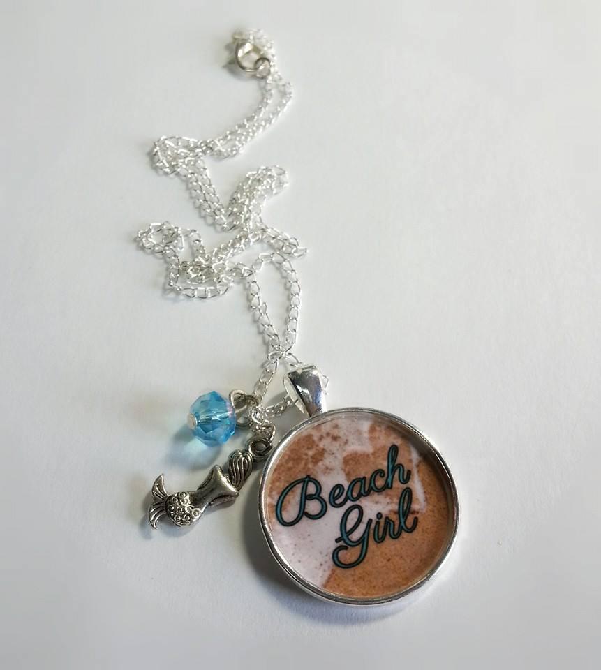 Beach girlocean loverach bumrmaidashell charm pendant beach girlocean loverach bumrmaidashell charm pendant necklace aloadofball Gallery