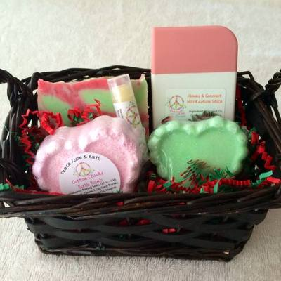 Medium gift basket all natural bath products you choose