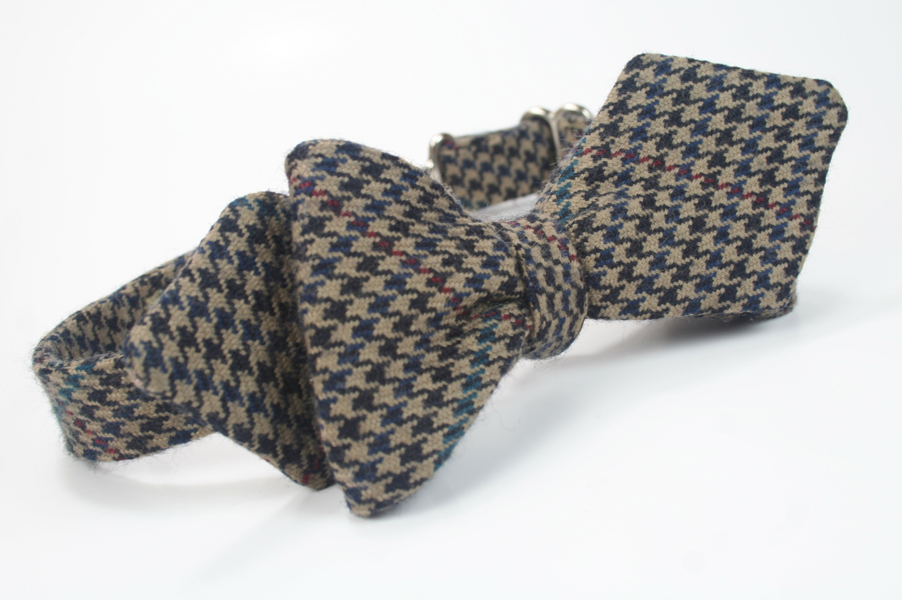 freestyle pre tied combo wool houndstooth diamond point pattern bow