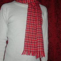 Vintage 1970s Plaid Scarf