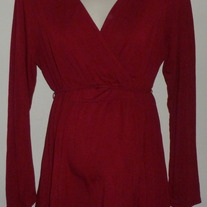 Dark Red Long Sleeve Shirt-Motherhood Maternity Size Large