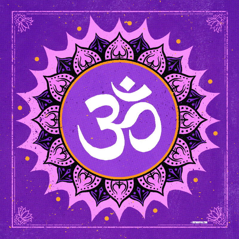 Om Symbol With Lotus Flower Color Artmuffin Studio Online