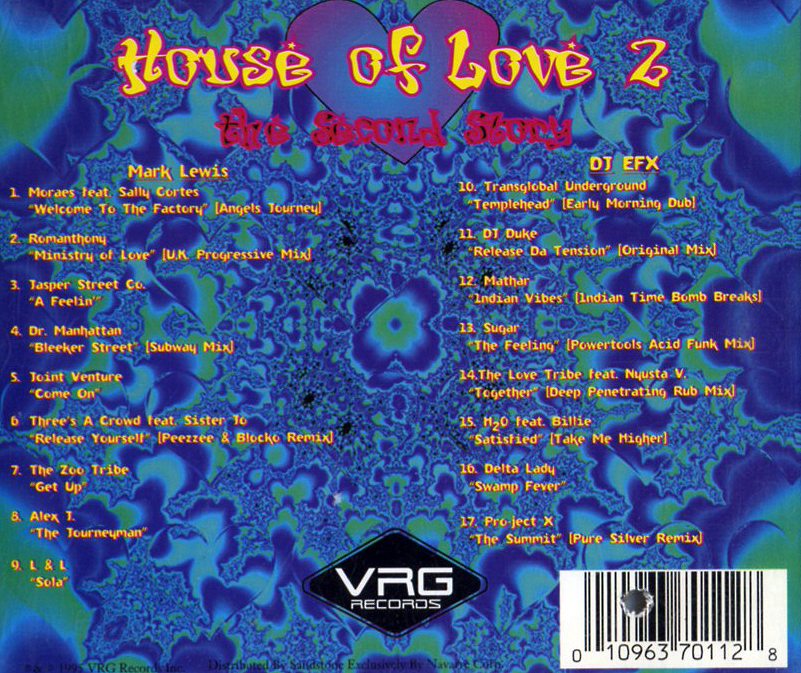 Mark lewis house of love 2 cd 1995 techno house for House music 1995