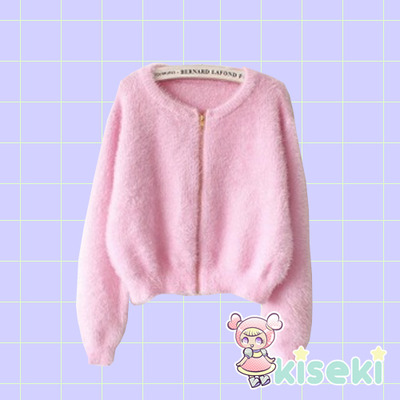 Fluffy Jacket - Fairy Kei, Kawaii, Ulzzang, Harajuku - FREE SHIPPING