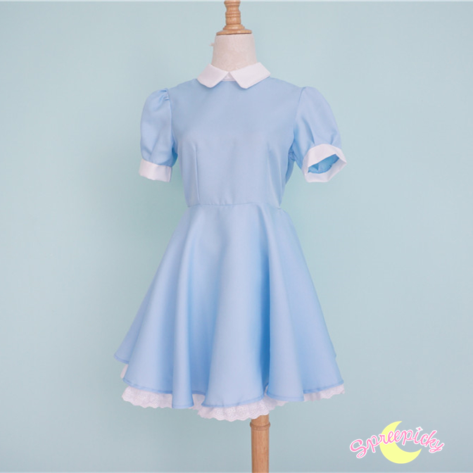 S - XL Better Version] Alice In Wonderland Blue Maid Dress With ...