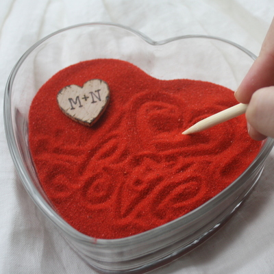 Valentines zen bowl - zen garden - home decor - unique gift