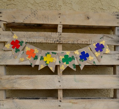Rainbow Shamrock Banner