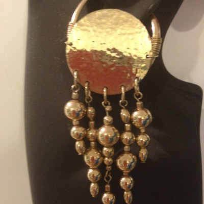 Hammered with gold beads