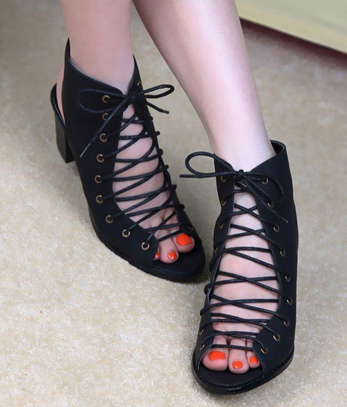 Lace-Up Wedge Sandals, suede sandals, wrap ankle sandals, black sandals