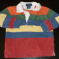 Multi Color Stripe Polo Shirt-Polo Ralph Lauren Size 24 Month