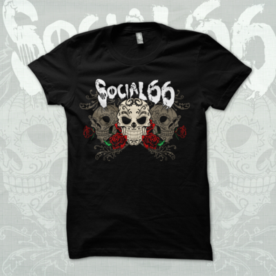 Sugar skull - girls tee
