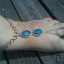 Peacock foot jewelry 1piece