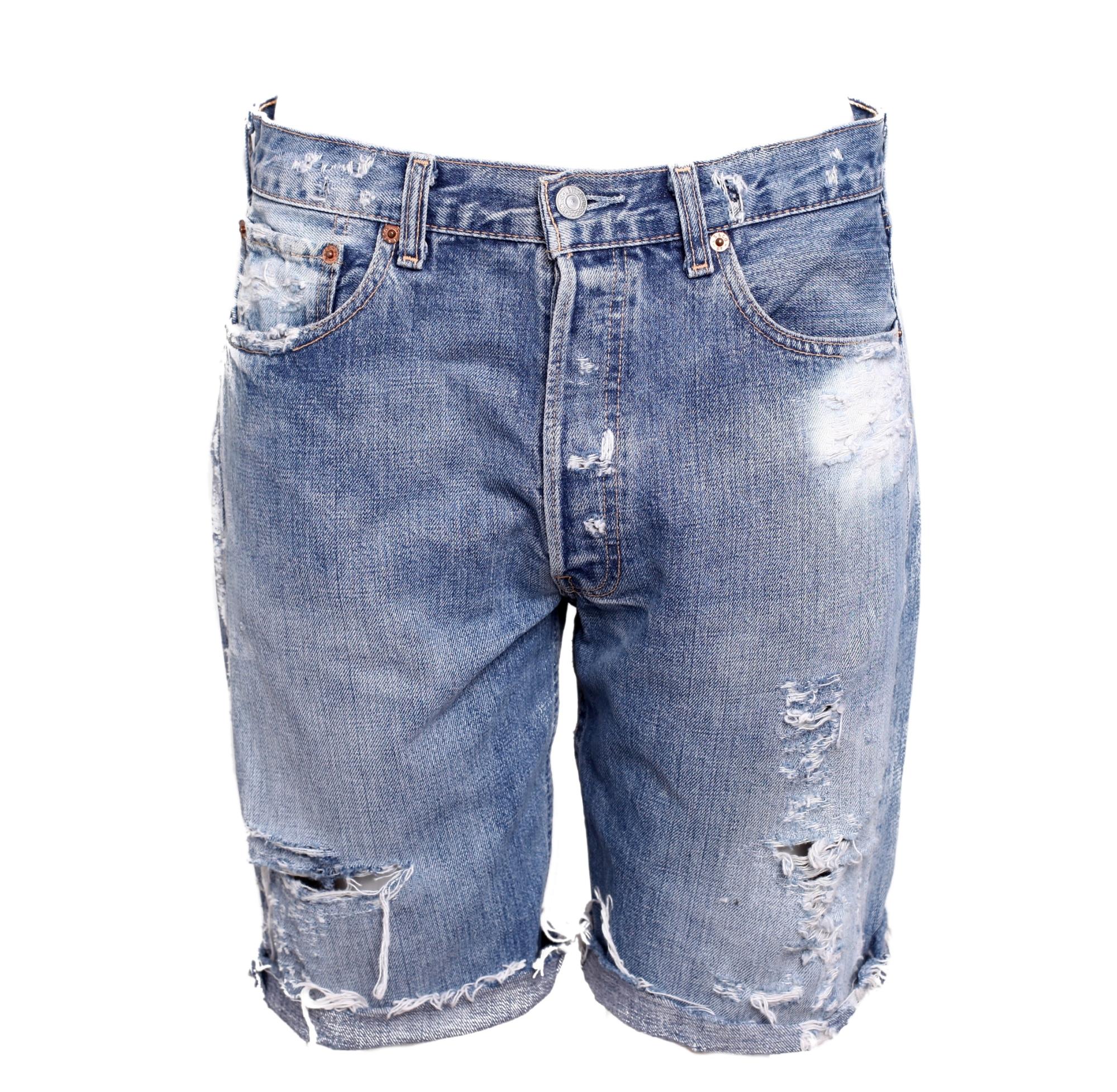 Distressed Jean Shorts Men
