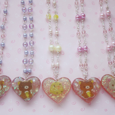 Cute rilakkuma and friends necklaces