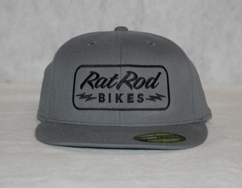Fitted RRB Bolt Gray Flat Bill Hat · Rat Rod Bikes · Online Store ...