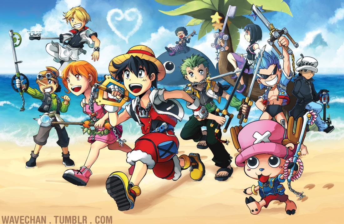 One Piece X Kingdom Hearts Poster