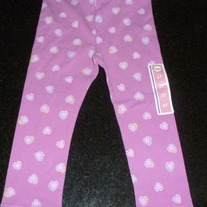 Purple Heart Leggings-NEW-Circo Size 2T