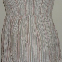Pink/Green Stripe Tube Top-Motherhood Maternity Size Small  SF0413