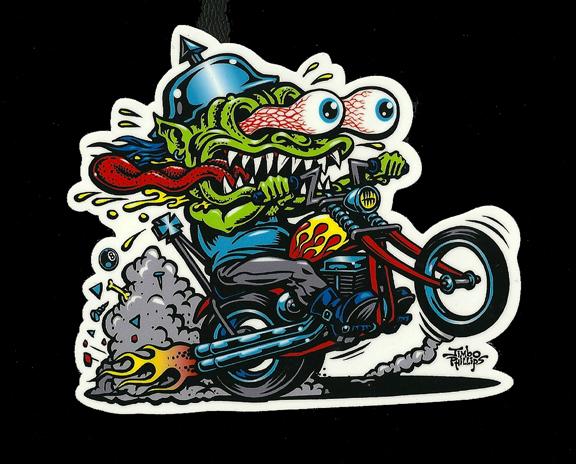 CHOPPER FREAK Full Color Shaped Vinyl Sticker Jimbo Phillips - Full color vinyl stickers