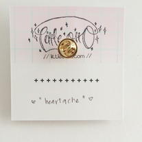 Heartache Illustrated Pin  medium photo