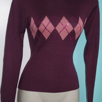 Eggplant Argyle Sweater