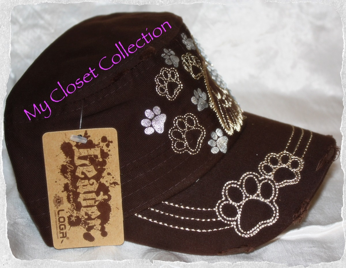 f817e43762d Cadet hat with rhinestone paw print and wings - Thumbnail 1 ...