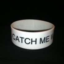 """Catch Me When I Fall"" Wristband - White"