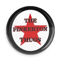 Pinkerton Thugs star logo button