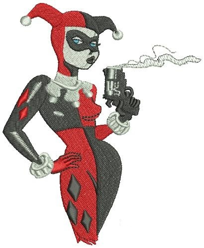 Harley Quinn Machine Embroidery In 2 Sizes On Storenvy