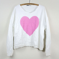 Wildfox Big Heart Oversized Sweater