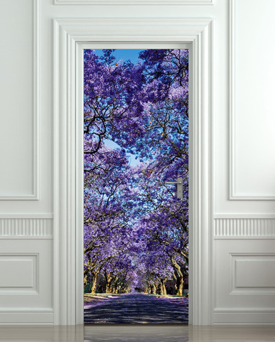 Door Sticker Garden Stylish Plants Mural Decole Film Self