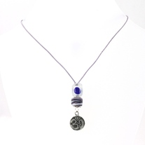 Clearly Violet Om Necklace