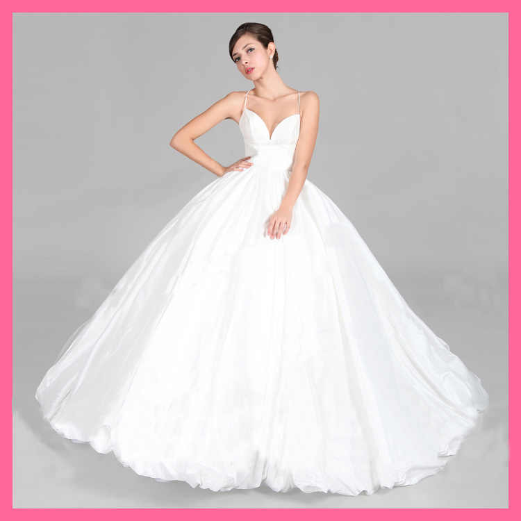Criss cross back plus size wedding dress ball gown wendy for Cross back wedding dress