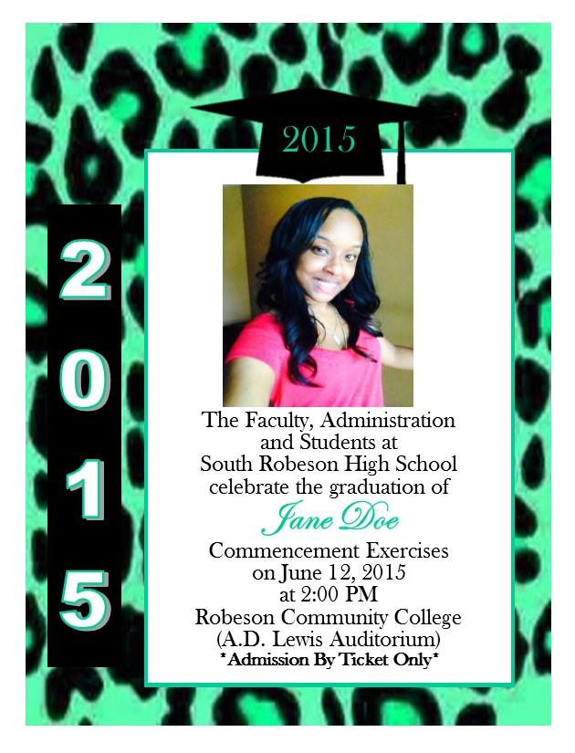cheetah print graduation announcement 12 southern desktop