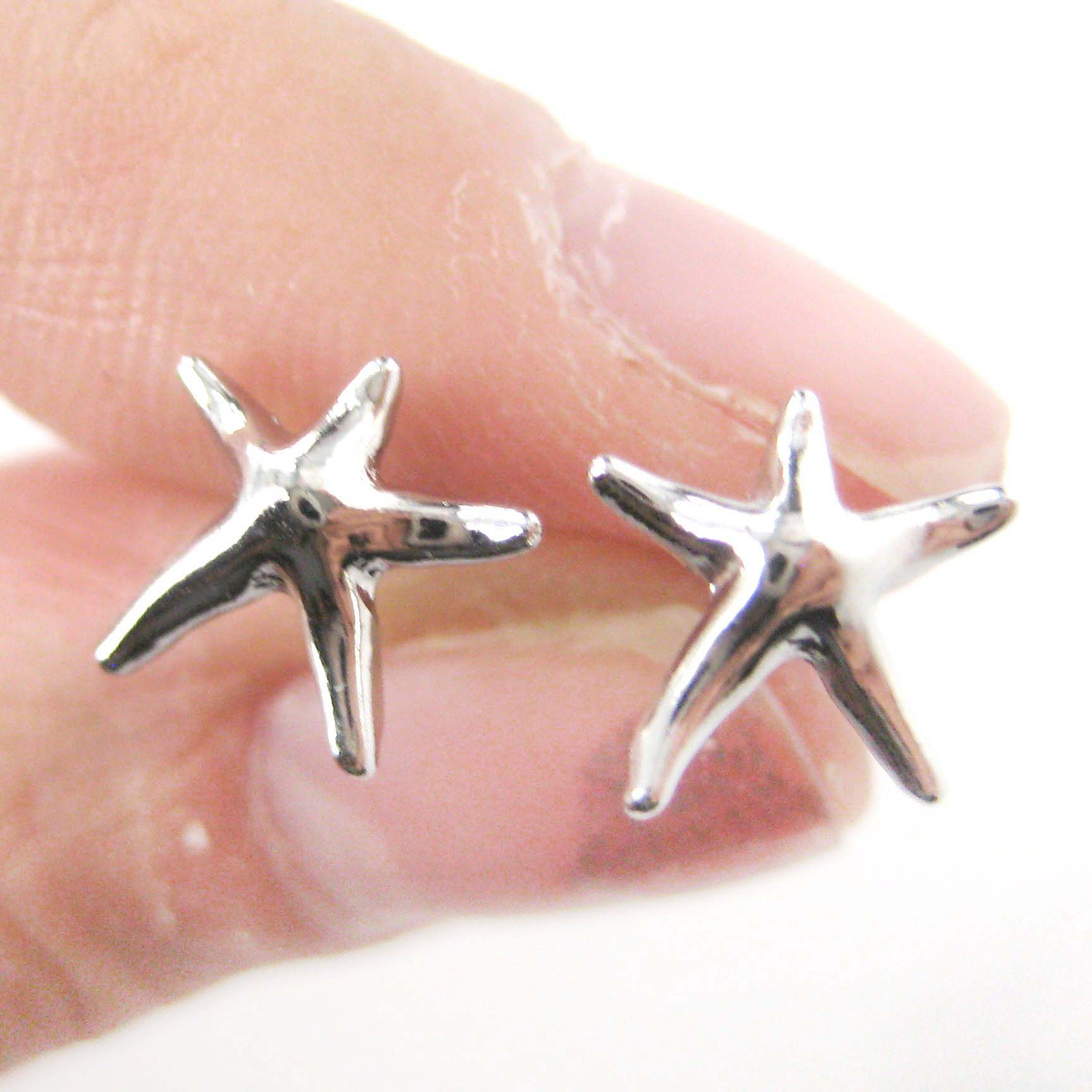 starfish touch your style perfect the stud circular pin silver to personal earrings solid