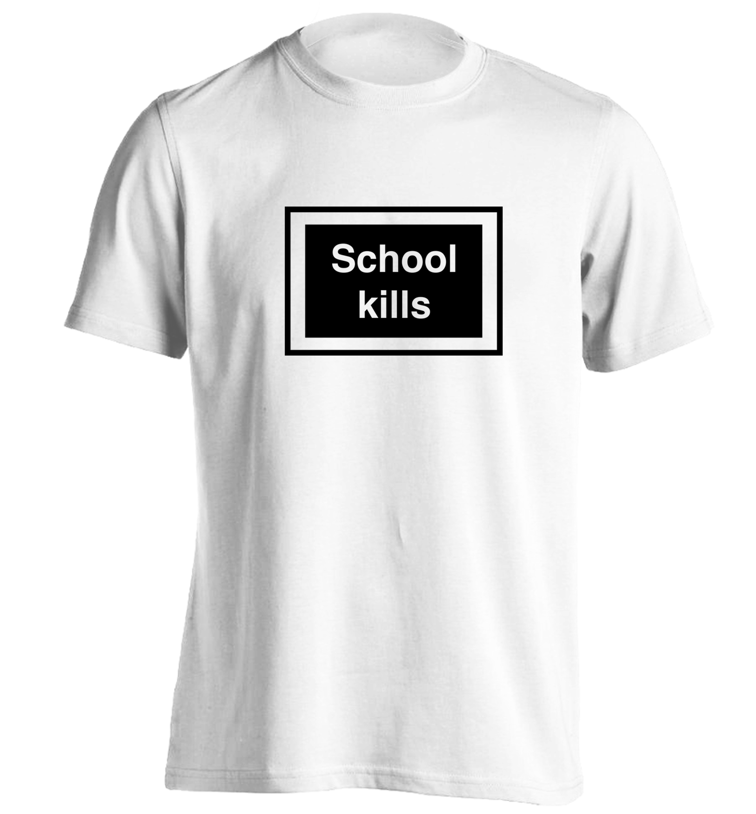 Black t shirt grunge - School Kills Tshirt Funny Joke Hipster Tumblr Instagram Grunge Text Slogan Black Gift T Shirt S