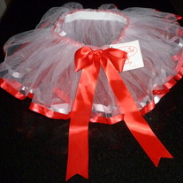 Red/White TuTu-NEW-Mudpie Size 0-6 Months