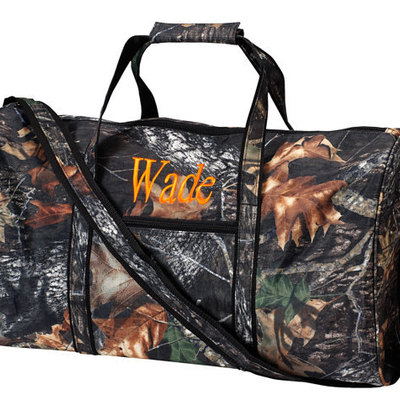 Large camo duffle bag