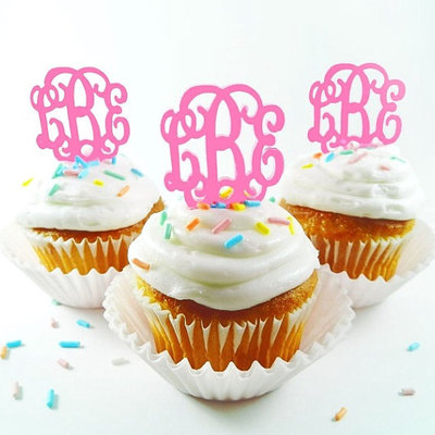 Acrylic cupcake topper (set of 6)