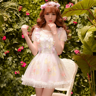 S/m/l alice in kawaiiland butterflies summer lace dress sp152132