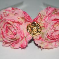 """Romantic Rose"" shabby sass headband"