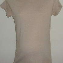 Light Tan Short Sleeve Shirt-Motherhood Maternity Size Large  GS513