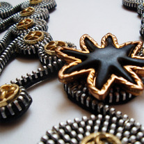 Star Zipper Necklace by Tamarindo