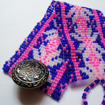 Global - Fair Isle Beaded Cuff / Bracelet by Denk