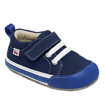 Smaller by See Kai Run - Cody, Blue Canvas Sneaker