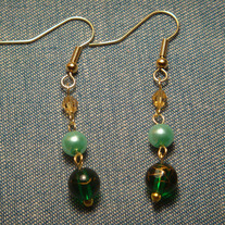 Two-tone Green Earrings
