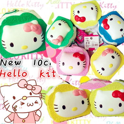 Scented hello kitty 3d jumbo cake roll/ swiss roll squishies