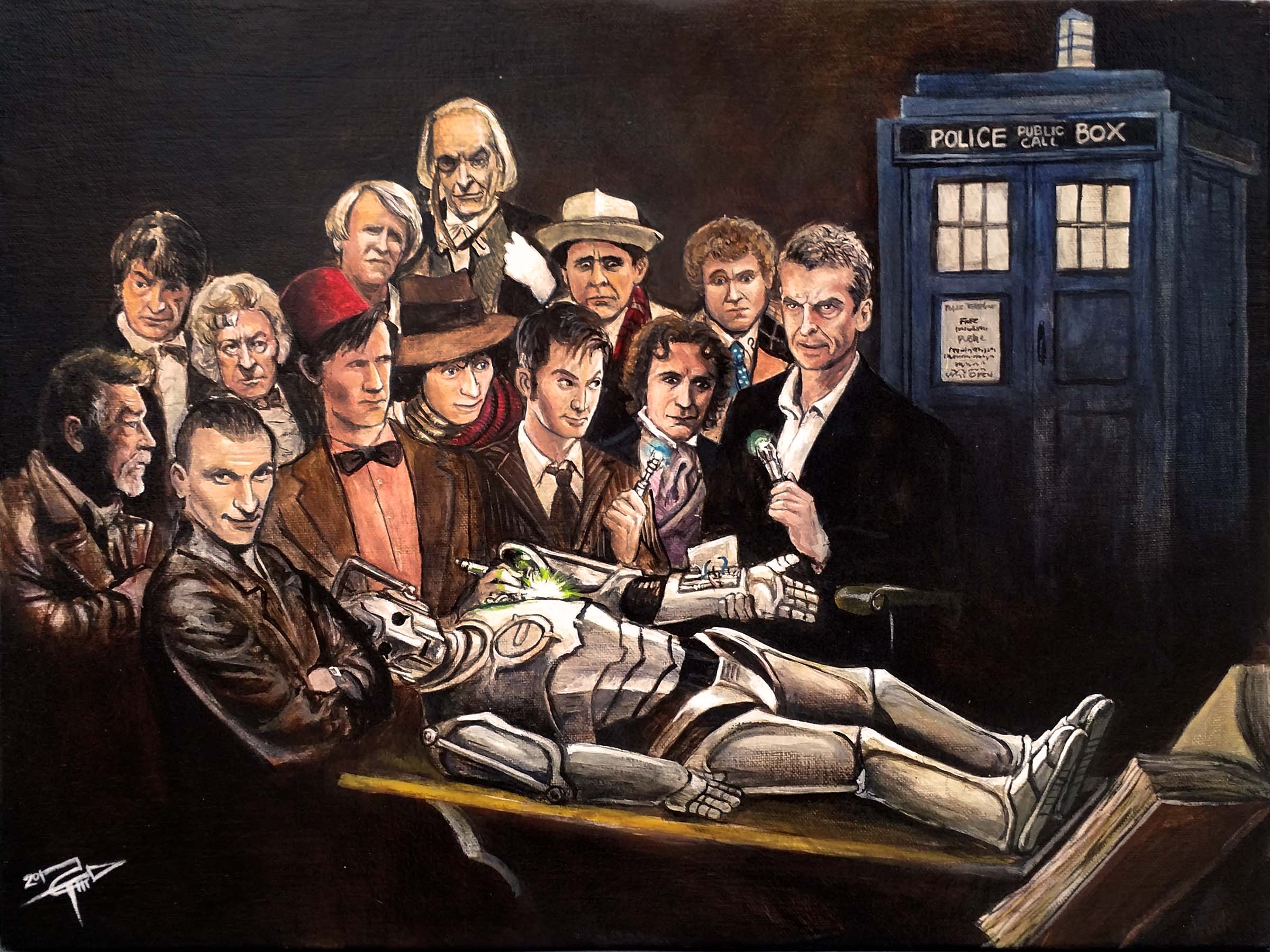 Anatomy Lesson of Dr Who · Tom Carlton Art · Online Store Powered by ...