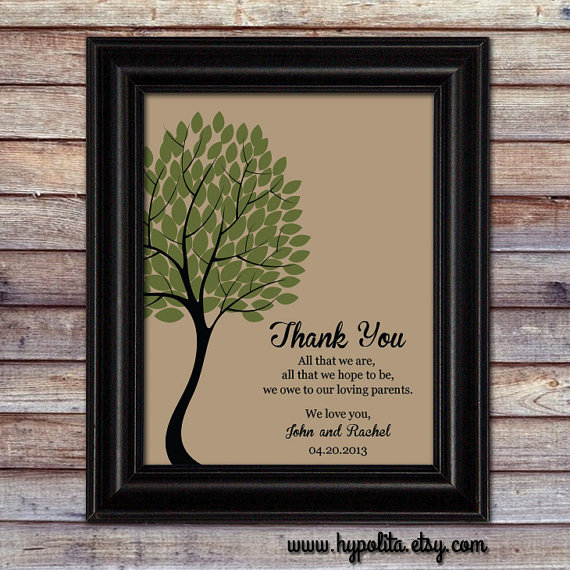 Wedding Gift For Groom Dad : wedding gift for parents from couple gift for parents from